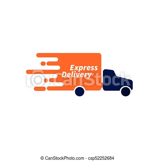 fe1957d0cf40f Logo courier service. icon express delivery. online shopping. vector ...