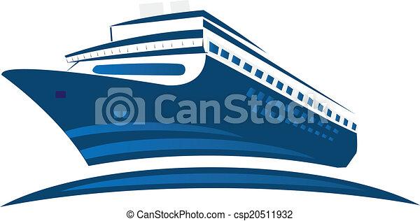 logo, croisière bateau - csp20511932
