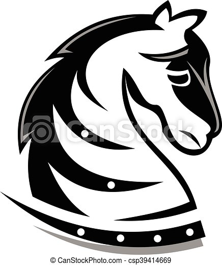 logo dark knight horse logo can use for any business clip art rh canstockphoto com
