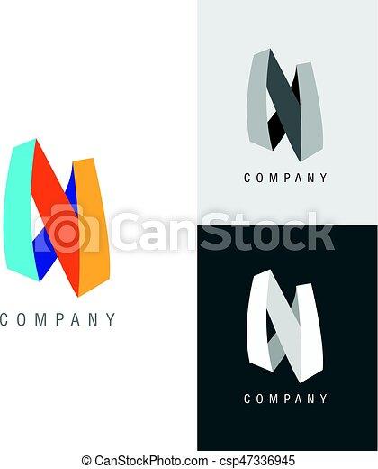 Logo Design Element Letter Symbol N Vector Illustration Eps Vector