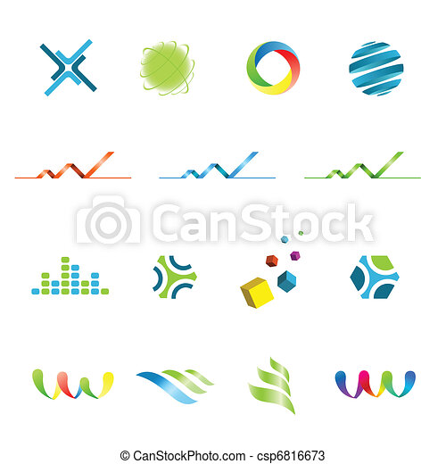 Logo design elements set - csp6816673
