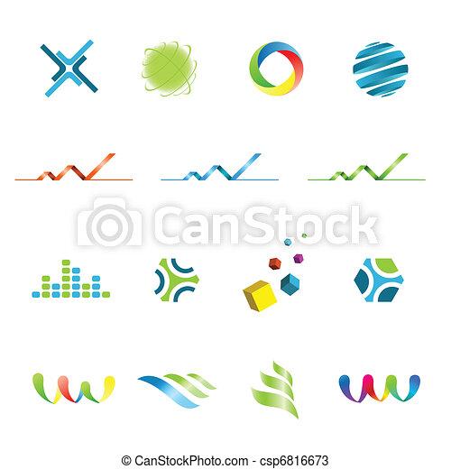 Logo design elements set - csp6816673