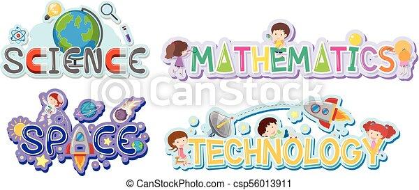 logo design for school subjects illustration