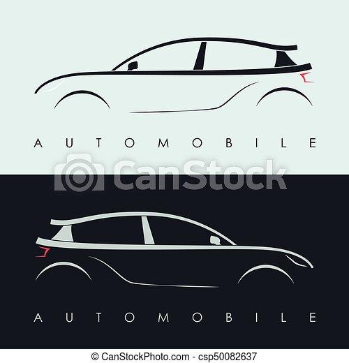 logo design voiture automobile silhouette illustration isolated automobile gris. Black Bedroom Furniture Sets. Home Design Ideas