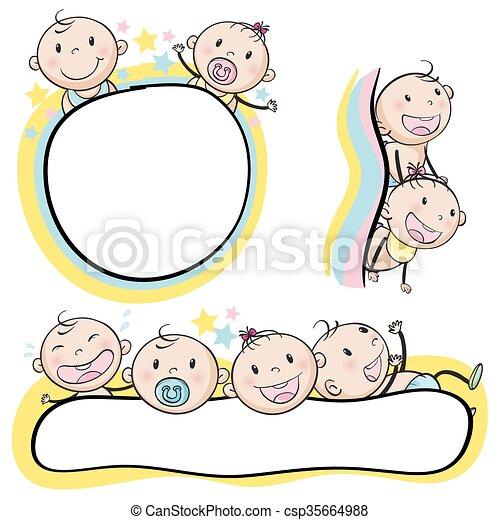Logo design with babies - csp35664988