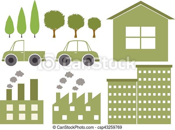 logo design with environmental theme illustration