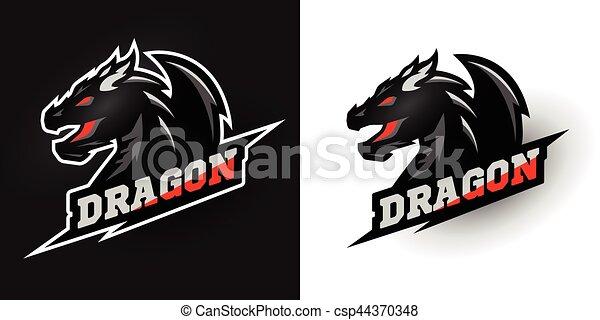 logo dragon sporty style two options logo dragon sporty style two