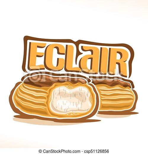 gelbes kuchendesign logos, logo, eclair, vektor, franzoesisch. kuchen, gelber , glasur, logo, Design ideen