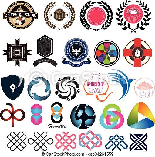 Logo elements set design - csp34261559