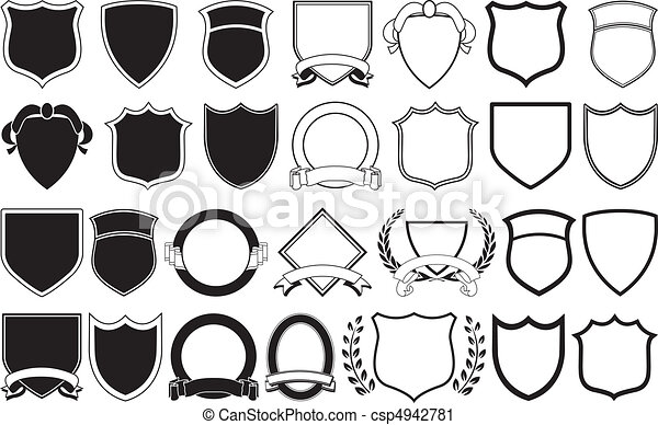 logo elements various shields and crests rh canstockphoto com crest clip art free family crest clip art