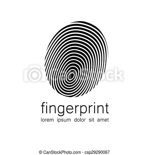 logo, empreinte doigt - csp29290067