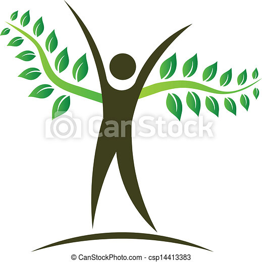 logo, folk, konstruktion, træ, element - csp14413383