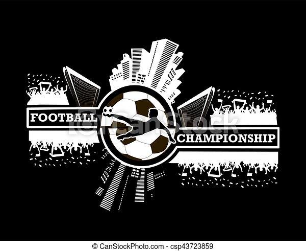 logo, football, championnat - csp43723859