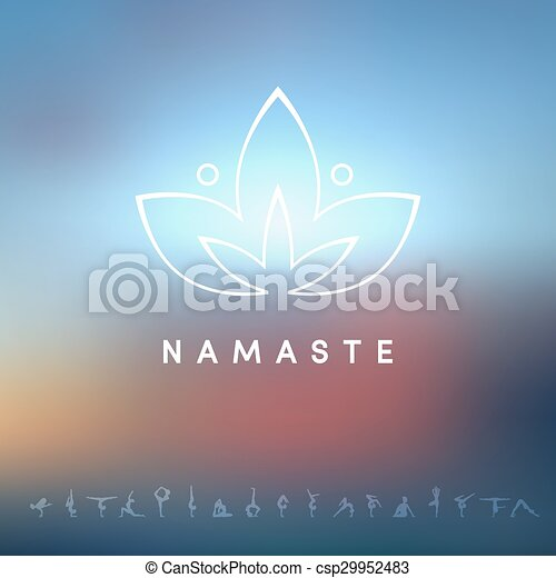 Logo for a yoga studio - csp29952483