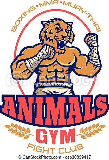 template sport logo for fighting club with angry muscular vector rh canstockphoto com drama club clipart social club clipart