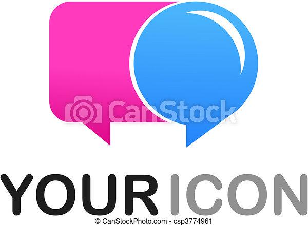 logo, forme, callout, /, icône - csp3774961