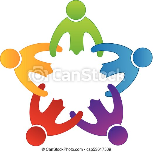 logo friendship people icon teamwork friendship people icon on rh canstockphoto com