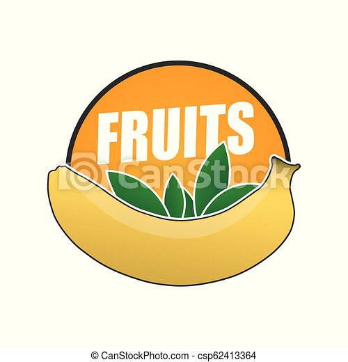logo fruit, natural product and healthy food - csp62413364