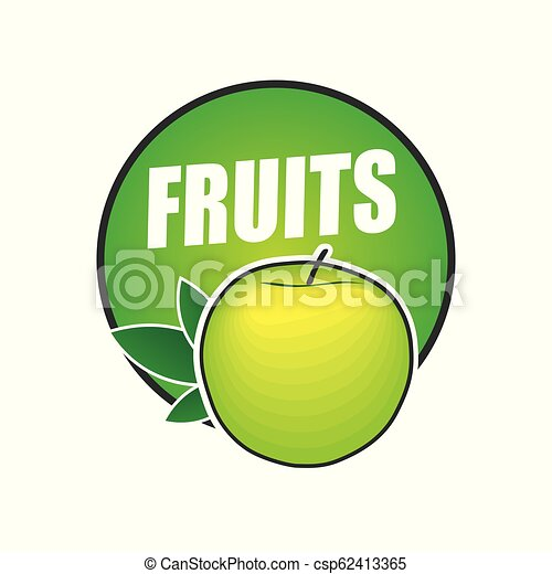logo fruit, natural product and healthy food - csp62413365