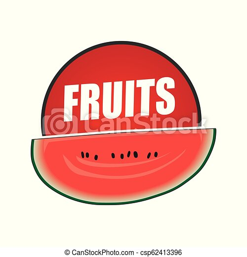 logo fruit, natural product and healthy food - csp62413396