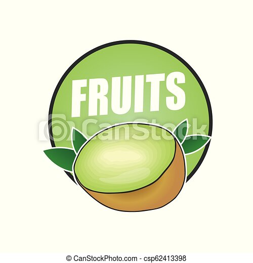 logo fruit, natural product and healthy food - csp62413398