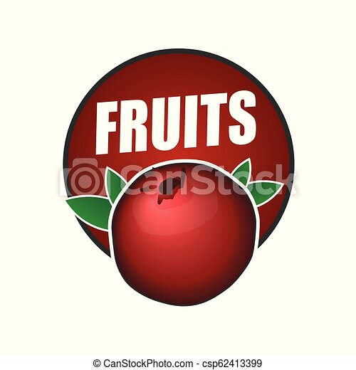 logo fruit, natural product and healthy food - csp62413399