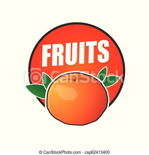 logo fruit, natural product and healthy food - csp62413400