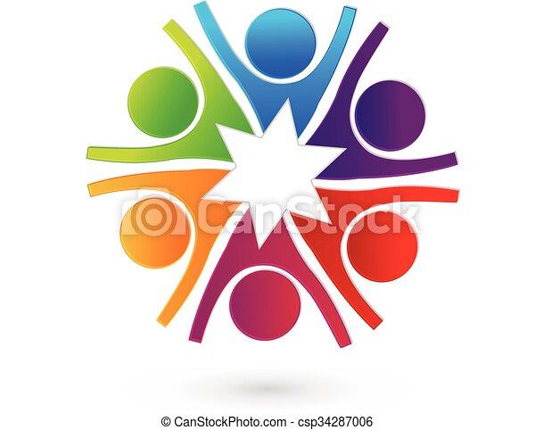 Logo-Star-Team-Leute - csp34287006