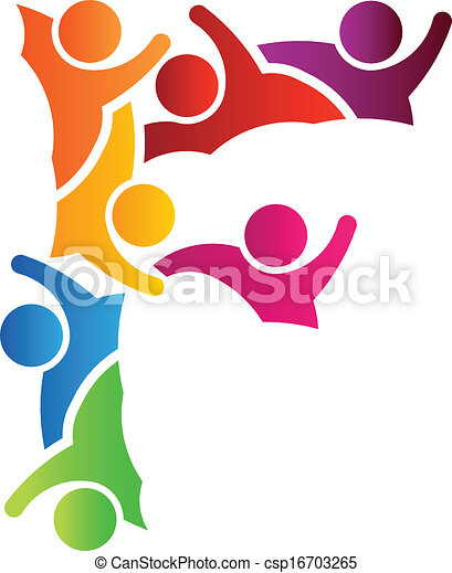 logo, gens, lettre f - csp16703265