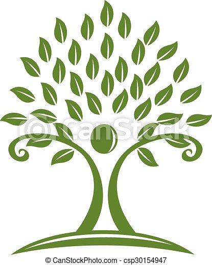 Logo green tree  - csp30154947