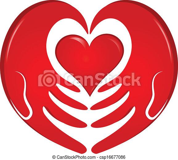 logo, hände, besitz, herz - csp16677086