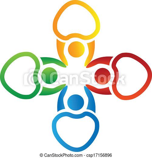 logo, hände, vektor, besitz, leute - csp17156896