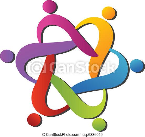 logo, hjælper, hold - csp6336049