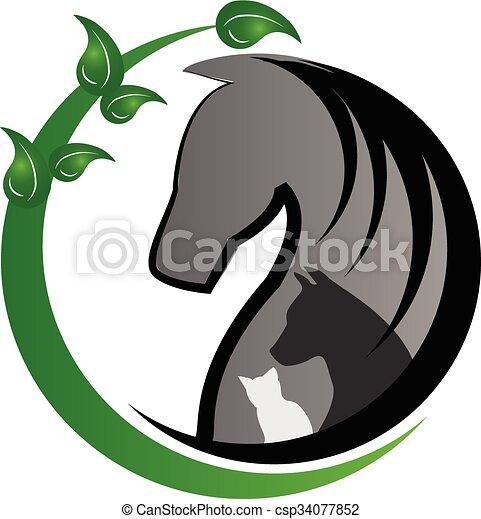 Logo horse cat and dog - csp34077852