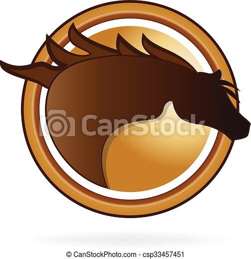 Logo horse race - csp33457451