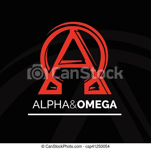 Logo Icon Design Of Alpha And Omega Symbol Vector Clipart Vector