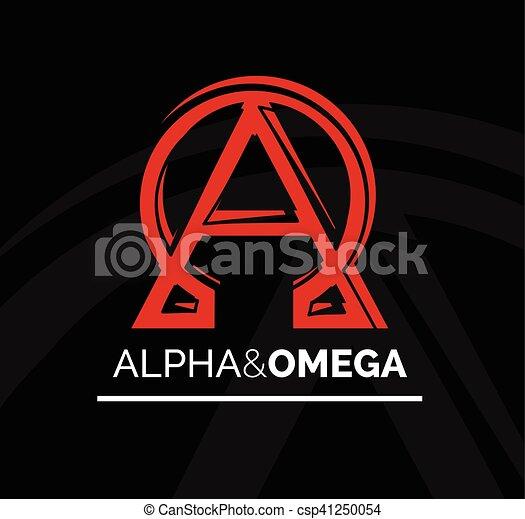 Logo Icon Design Of Alpha And Omega Symbol Vector Illustration
