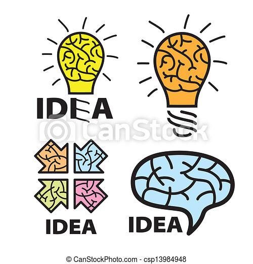 logo idea. brain - csp13984948