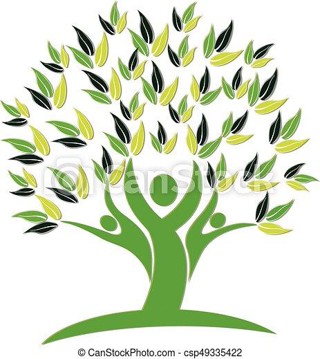 logo, ikon, træ, folk, natur - csp49335422