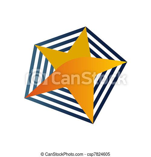 logo, jasna gwiazda - csp7824605
