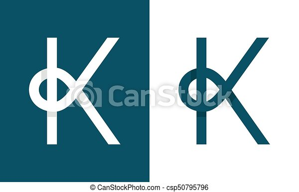 Logo K Abstract Monogram Letter Vector