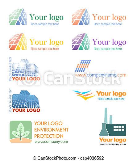 logo, komplet - csp4036592