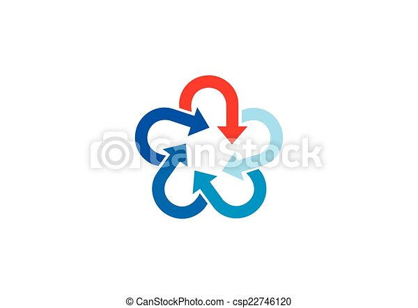 logo, kreis, vektor, stern, pfeil - csp22746120