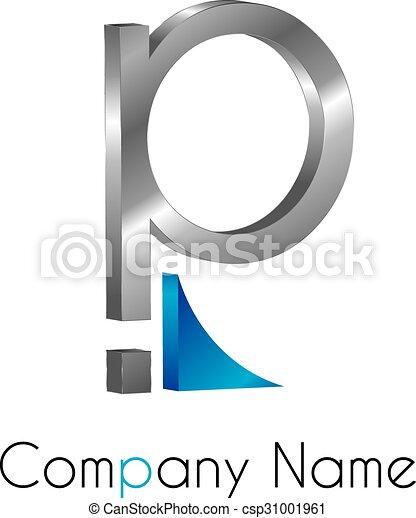 Logo, lettre p.