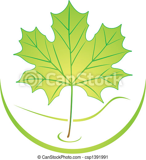 logo, liść - csp1391991