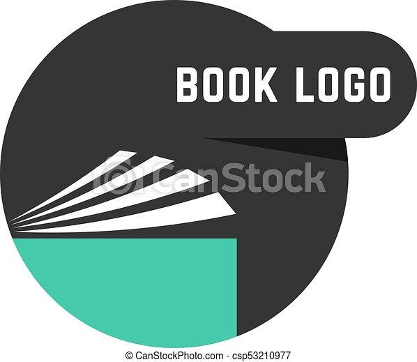 Logo Livre Noir Rond Concept Information Tendance