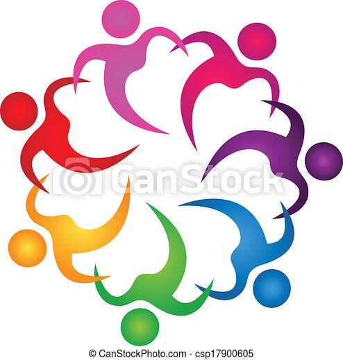 logo, ludzie, teamwork, dzierżawa wręcza - csp17900605