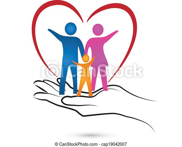 logo, main, coeur, famille - csp19042007