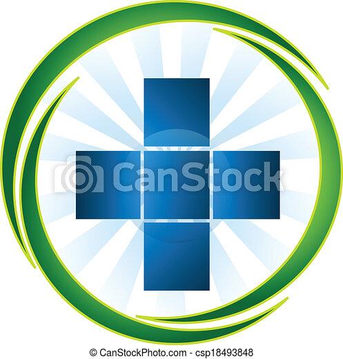 logo, medicinsk, vektor, symbol, ikon - csp18493848