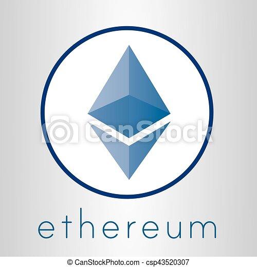 logo, monnaie, vecteur, cripto, ethereum - csp43520307